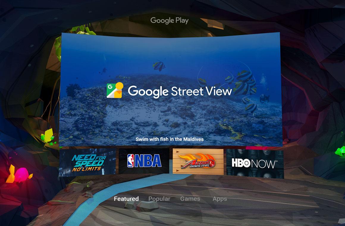 google daydream интерфейс