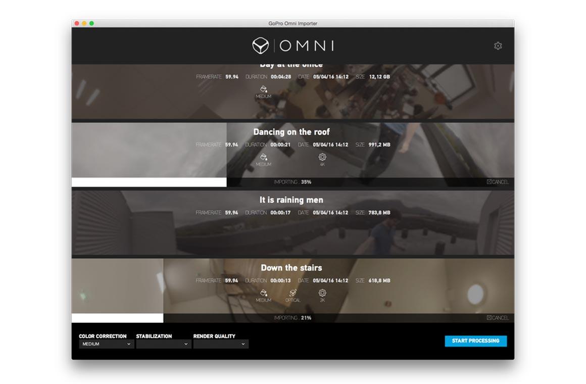 GoPro Omni Import