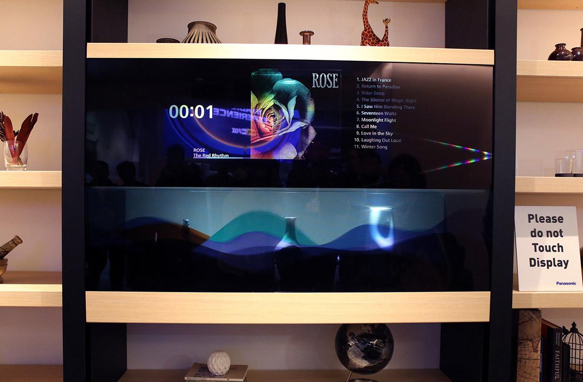прозрачный телевизор panasonic