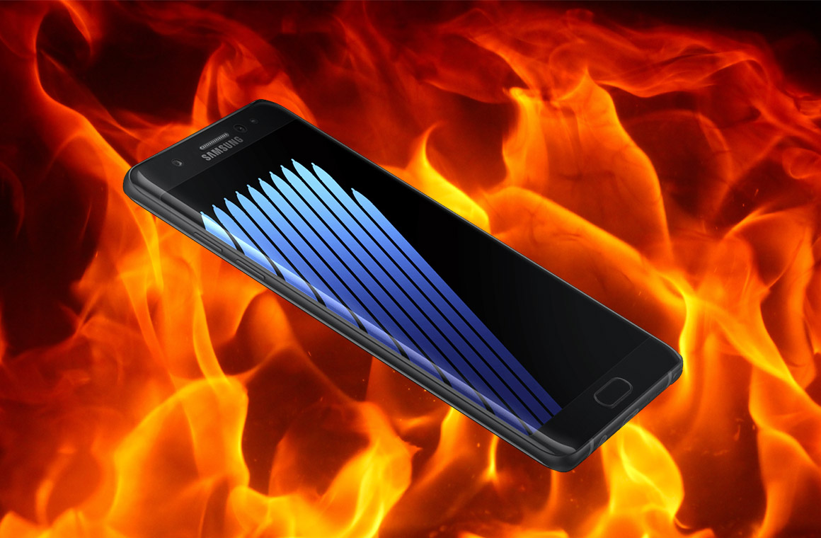 возгование Galaxy Note7