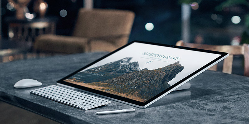 Surface Studio с сенсорным экраном