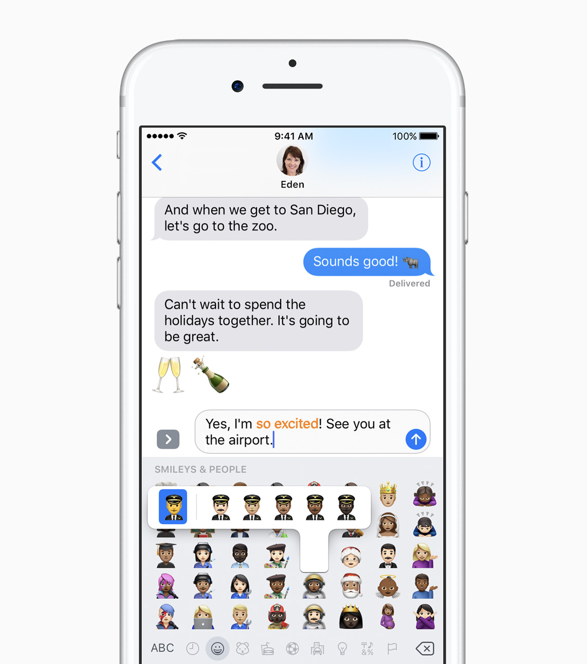 iOS 10.2 Tap and Replce emoji