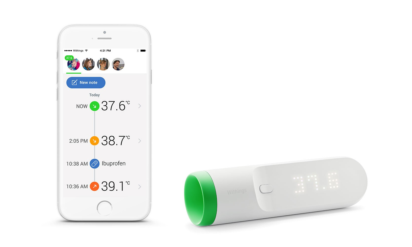 Withings Thermo приложение
