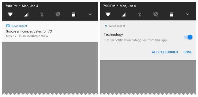 Android O уведомления
