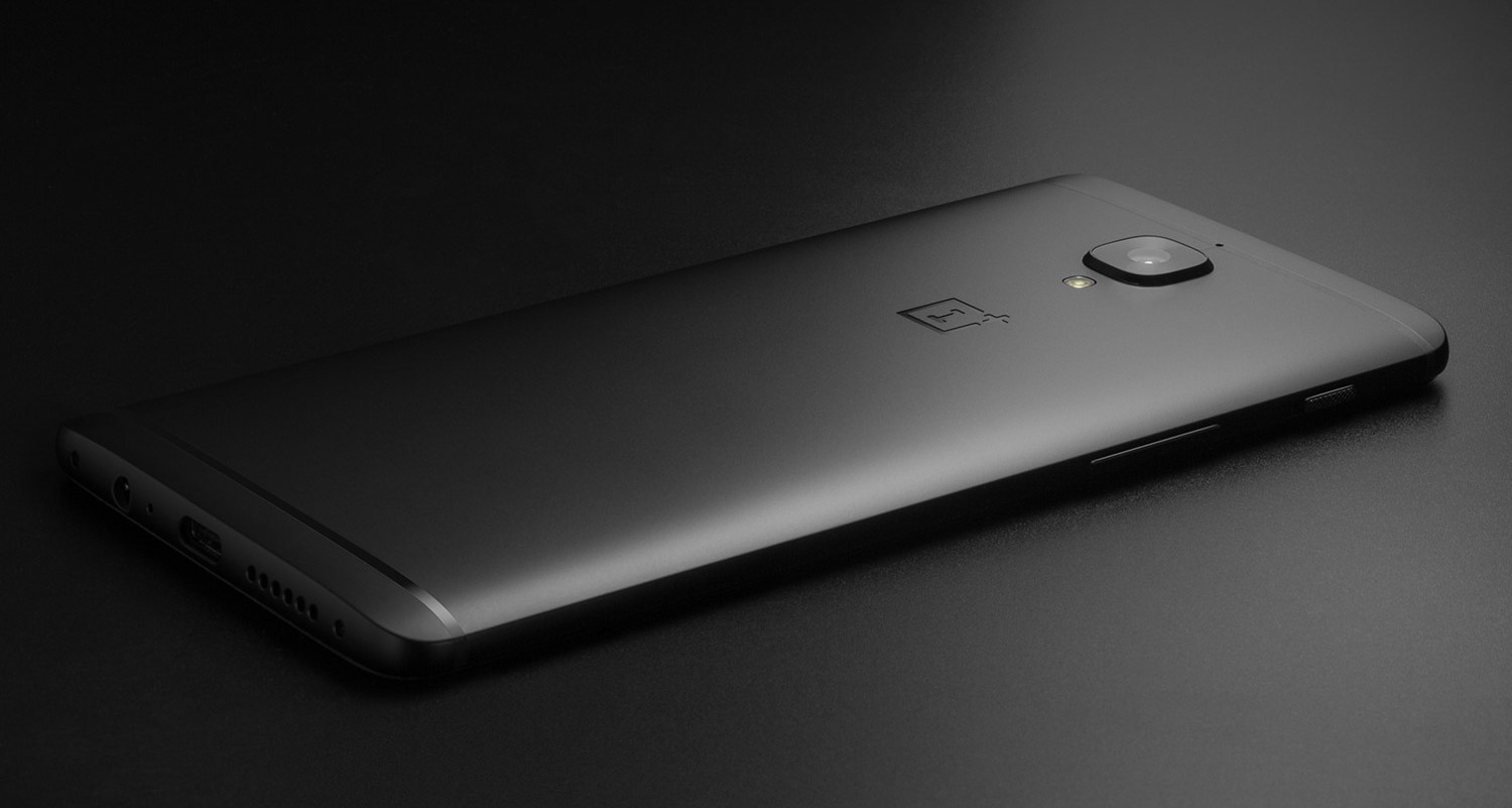 oneplus 3t midnight black back
