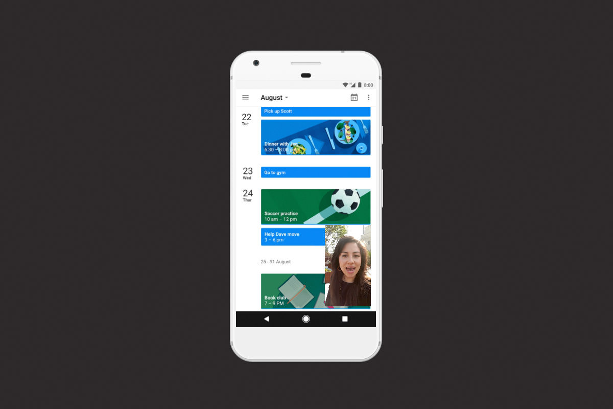 Android O окно в окне