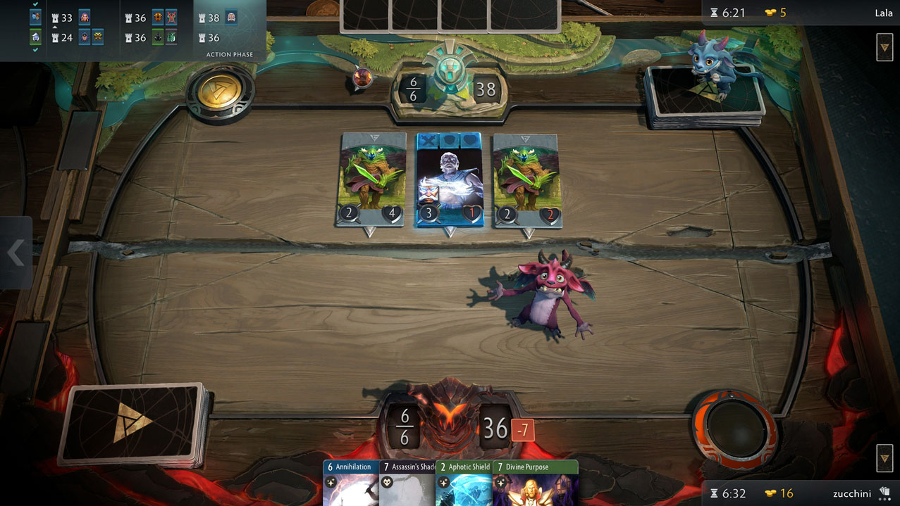 Artifact gameplay