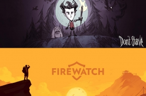 Заставки игр Don't Strave и Firewatch