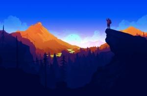 Заставка из игры Firewatch