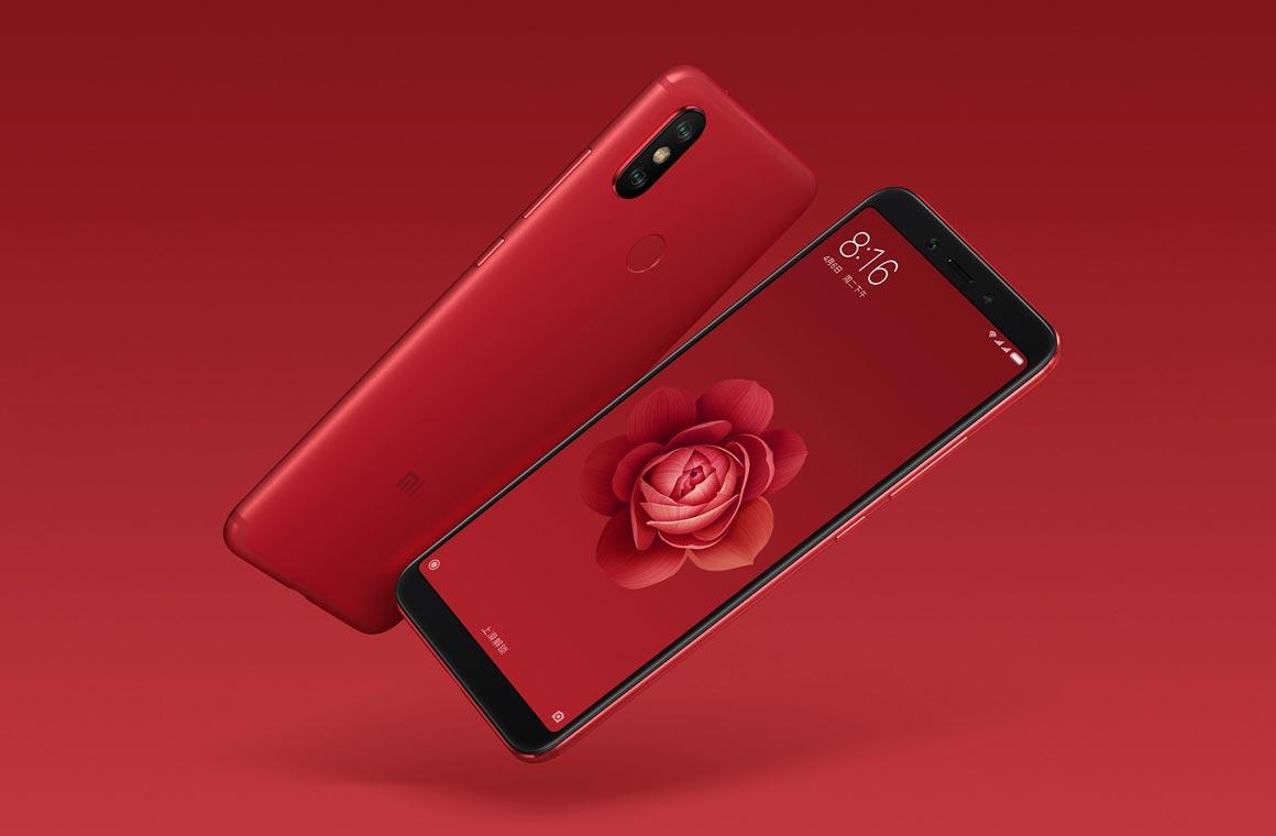 Смартфон Xiaomi Mi 6X в красном цвете