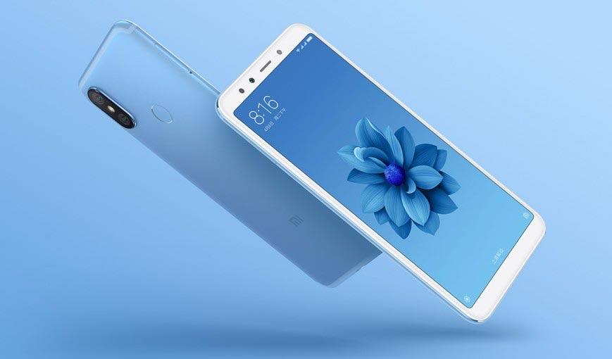 Xiaomi Mi 6X в синем цвете