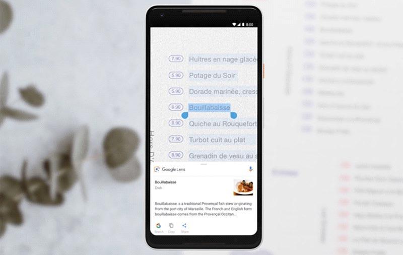 Обновления Google Lens на Google I/O 2018