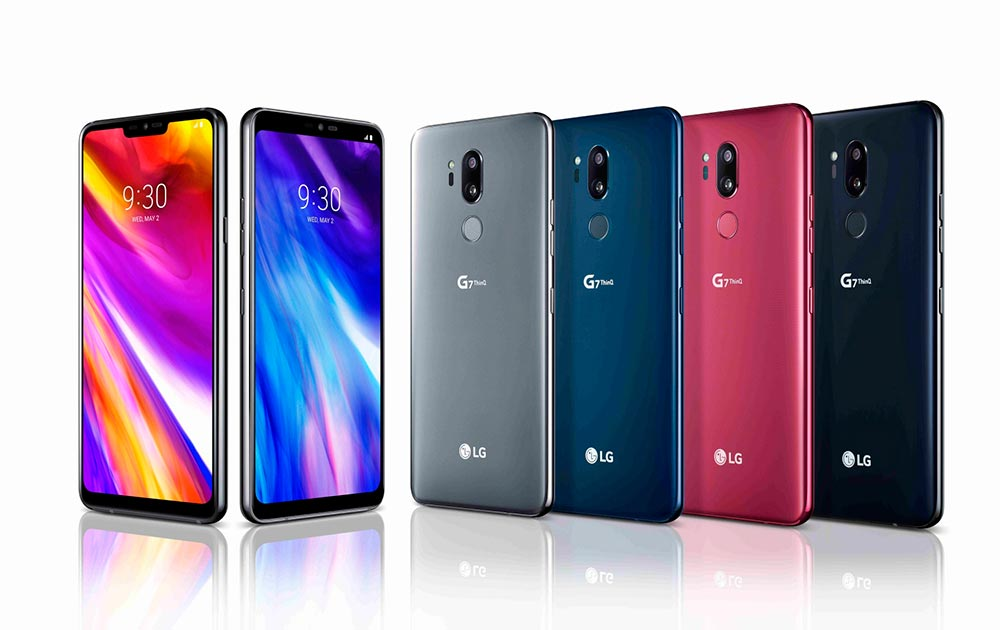Вся цветовая линейка LG G7 ThinQ