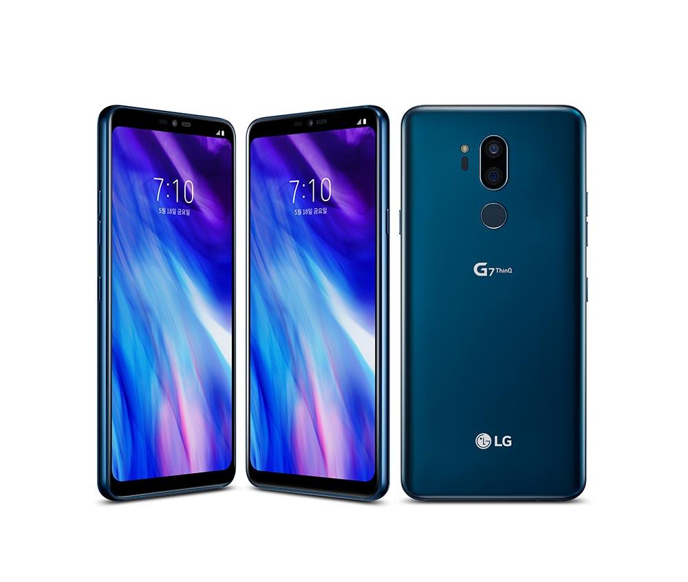 LG G7 ThinQ в синем цвете