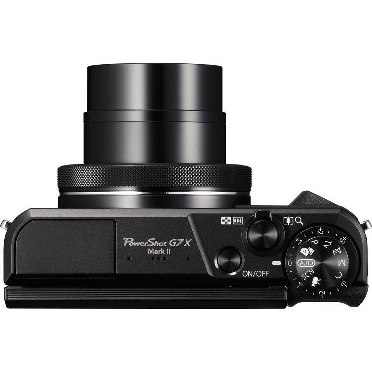 Canon Power Shot G7 X Mark II вид сверху