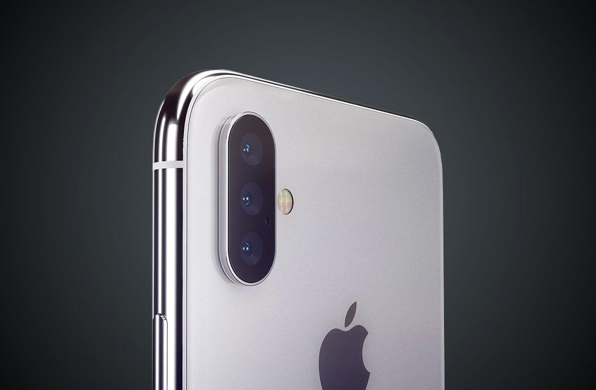 iPhone X с тройной камерой
