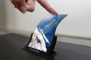 Сгибающийся экран LG