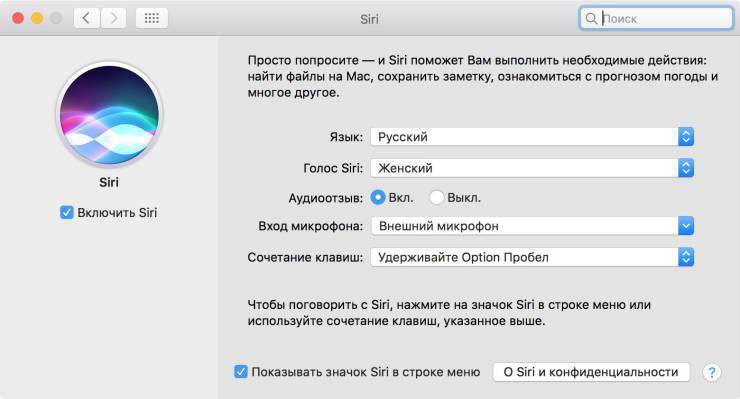 macOS Siri shortcut