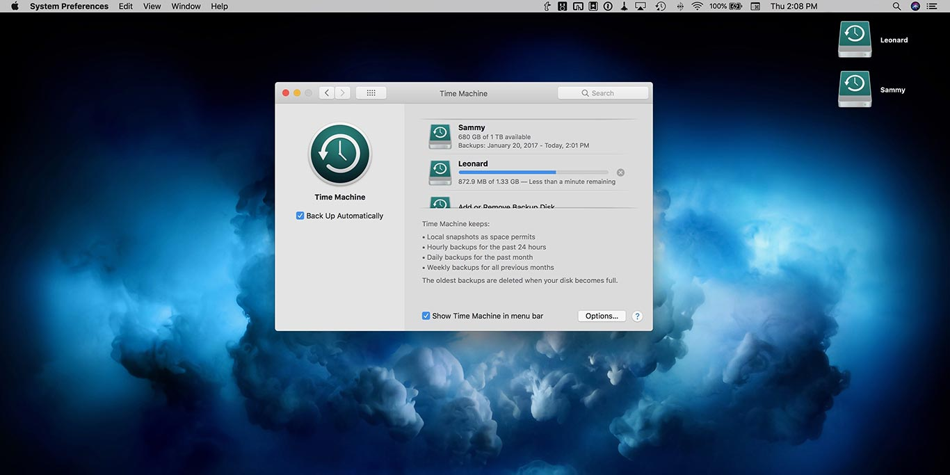 MacBook Time Machine Backup