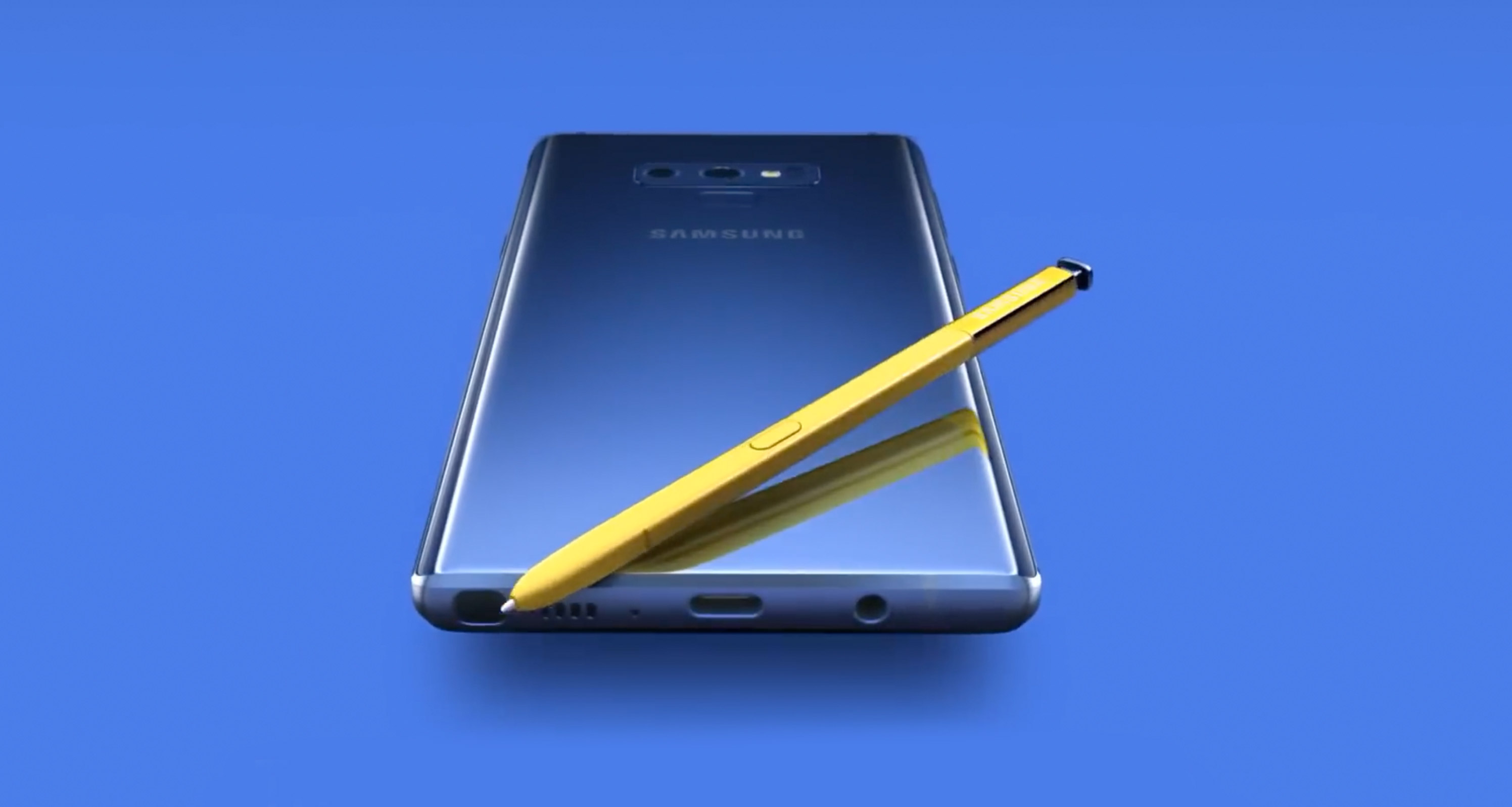 Samsung Galaxy Note 9 blue s pen