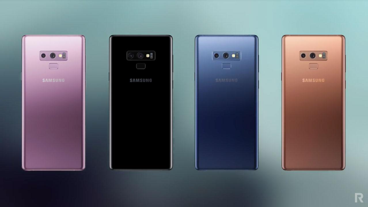 Цвета Samsung Galaxy Note 9