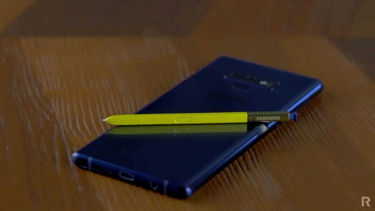 Samsung Galaxy Note 9 и стилус S-Pen