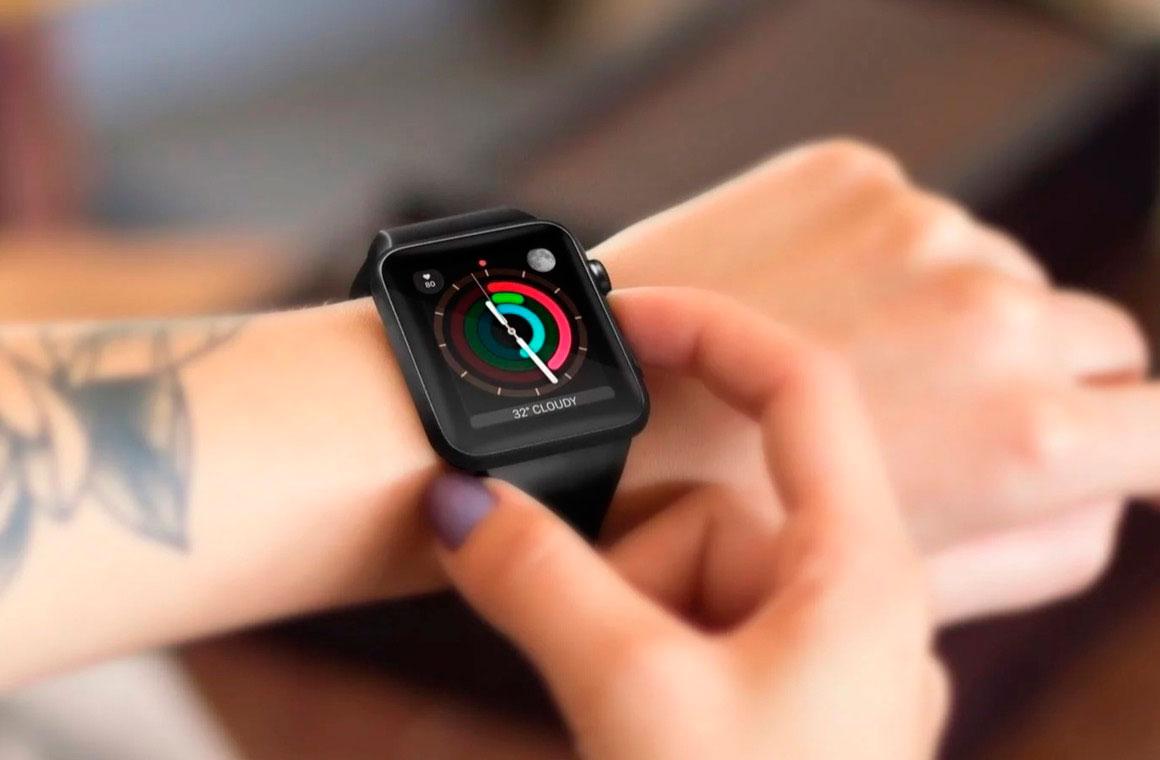 Apple Watch Series 3 на руке