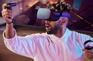 Oculus Quest на голове