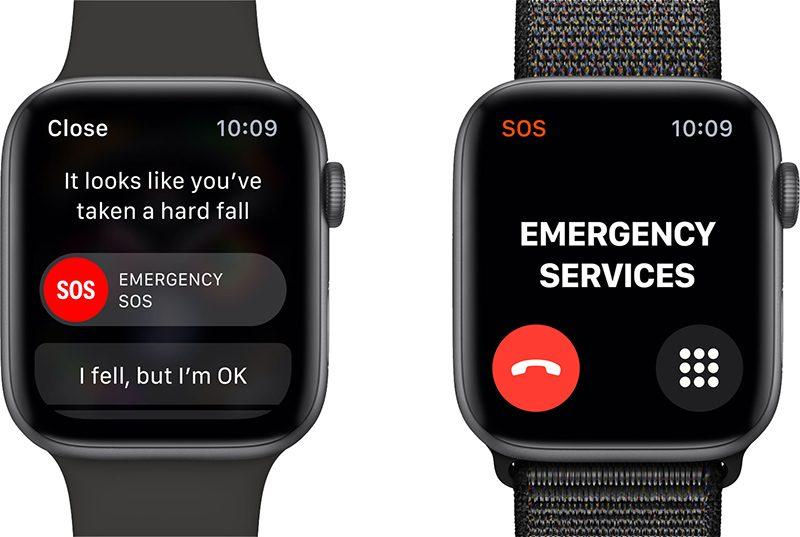Apple Watch Series 4 обнаружений падений