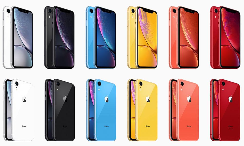 iPhone Xr вид спереди и сзади