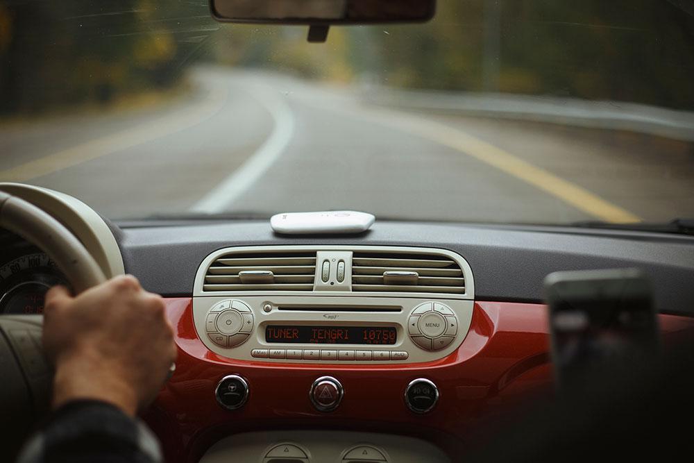 Nommi в автомобиле