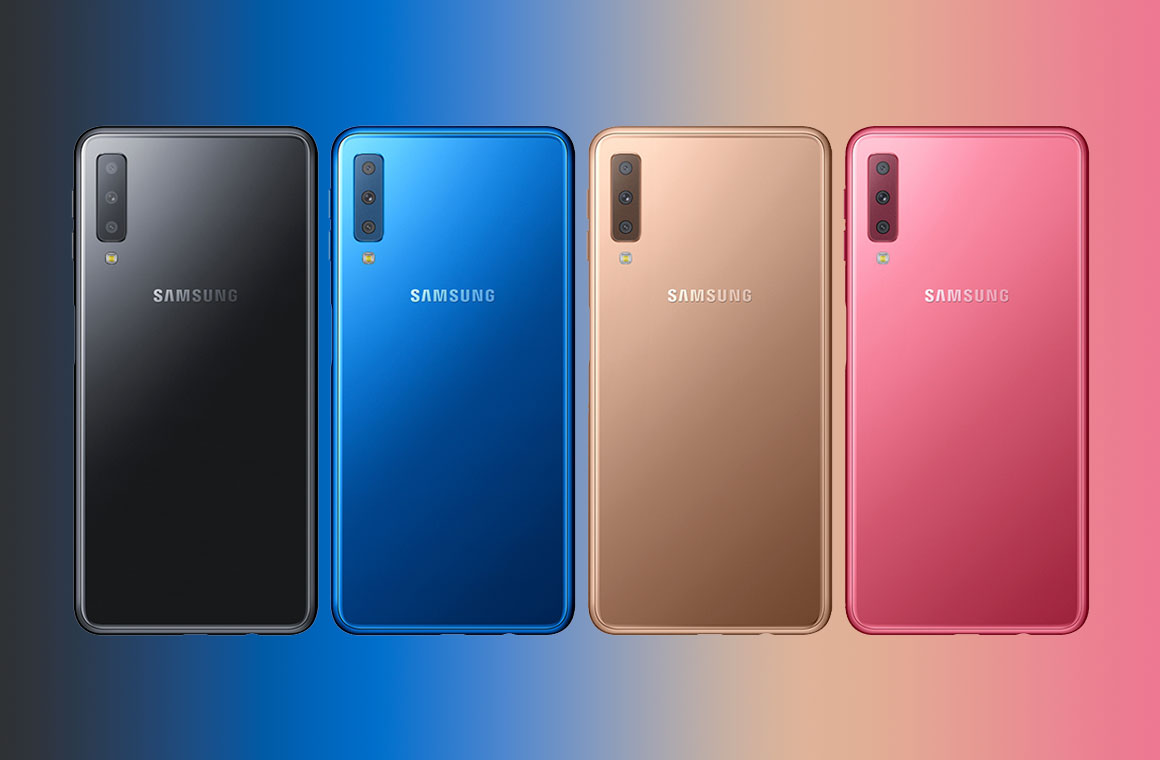 4 цвета Samsung Galaxy A7