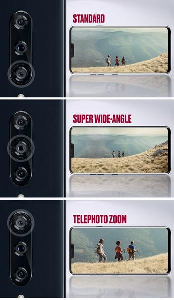 основная тройная камера LG V40 ThinQ