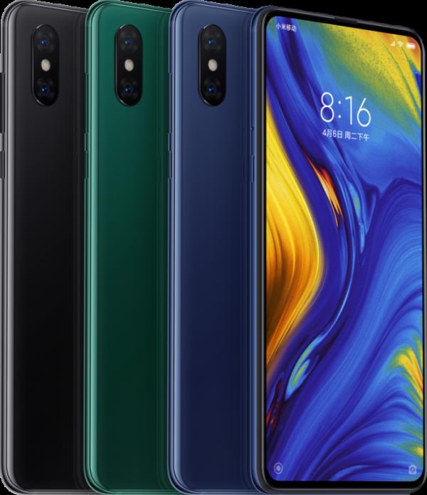 Xiaomi Mi Mix 3 цвета