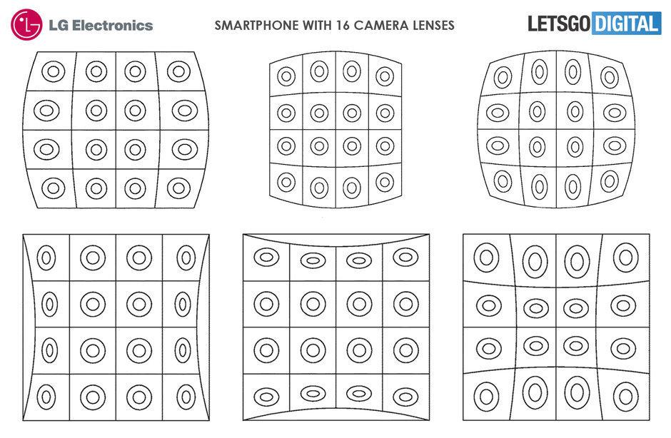 Смартфон LG с 16 камерами