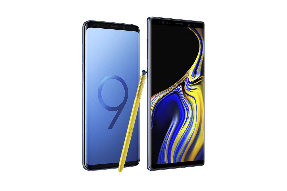 Смартфоны Samsung Galaxy Note 9 и Galaxy S9