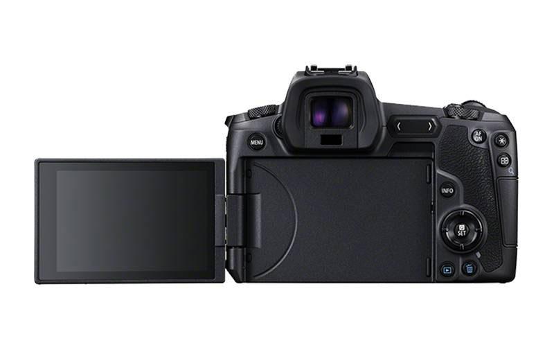 Canon EOS R с развернутым объективом