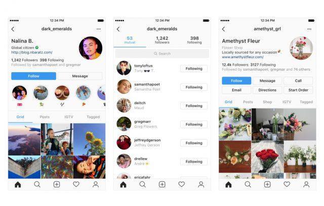 Скриншот нового дизайна Instagram