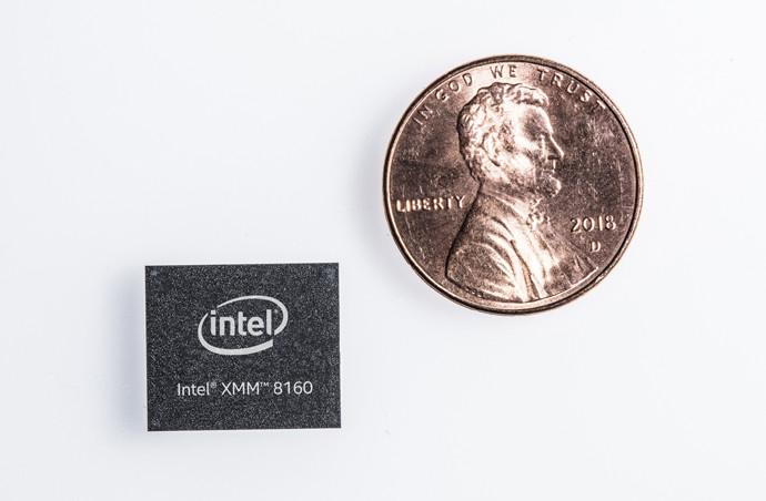 5G-модем Intel размер