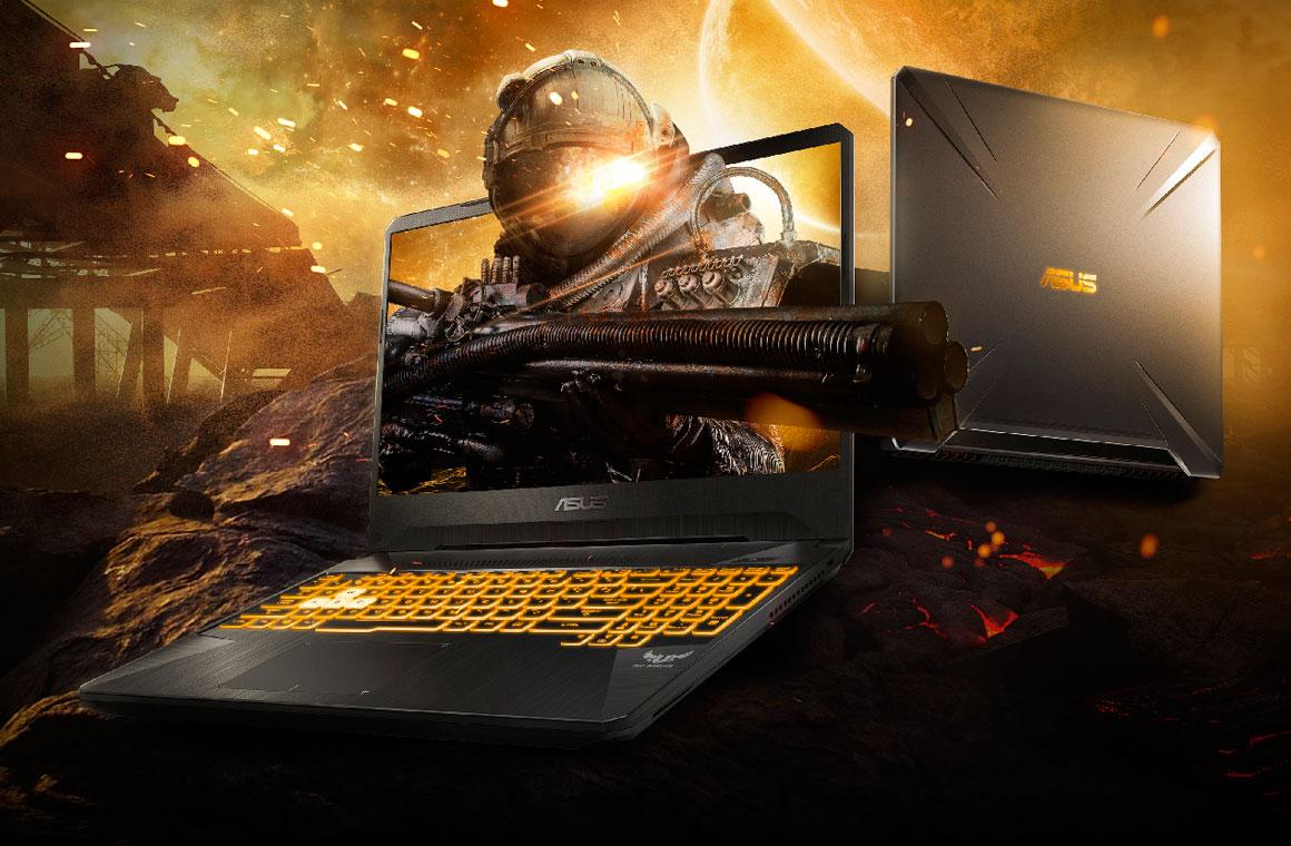 Постер с ноутбуком Asus TUF Gaming FX505