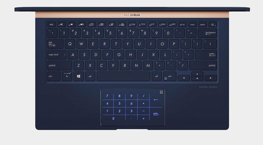 Клавиатура и тачпад Asus ZenBook 14