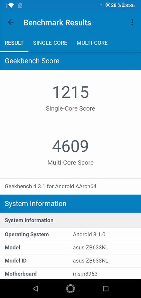 Asus ZenFone Max M2 тест AnTuTu