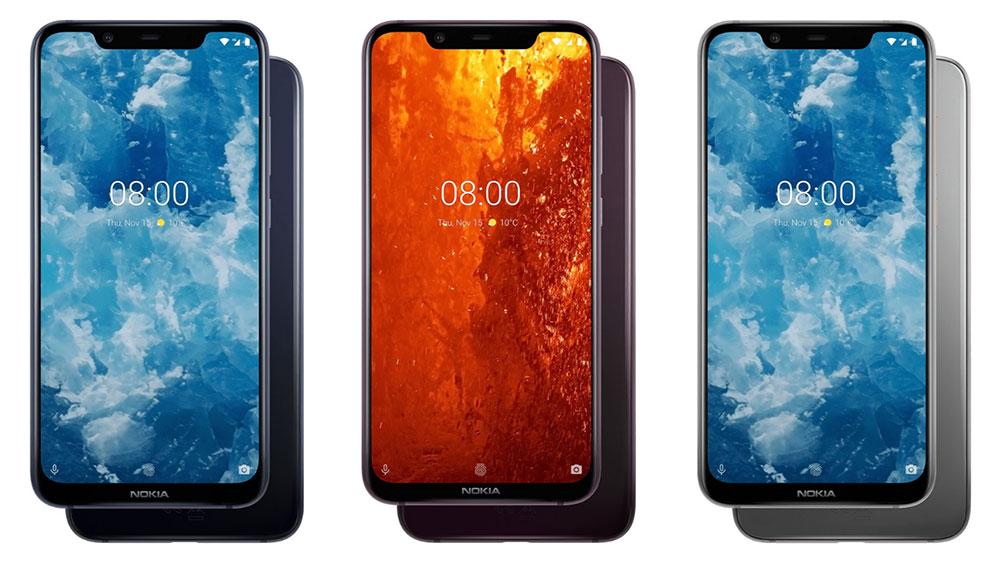 Nokia 8.1 цветовые варианты