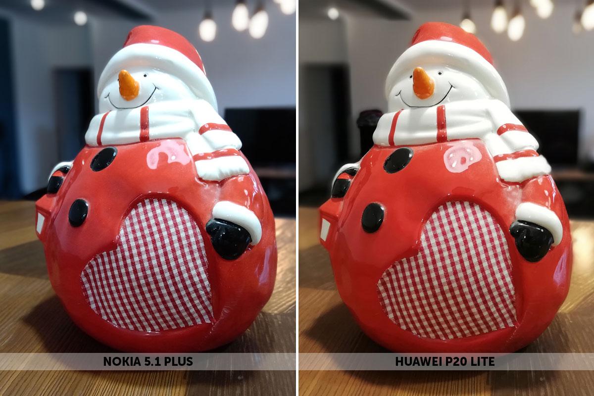 Размытие фона на Nokai 5.1 Plus и Huawei P20 Lite