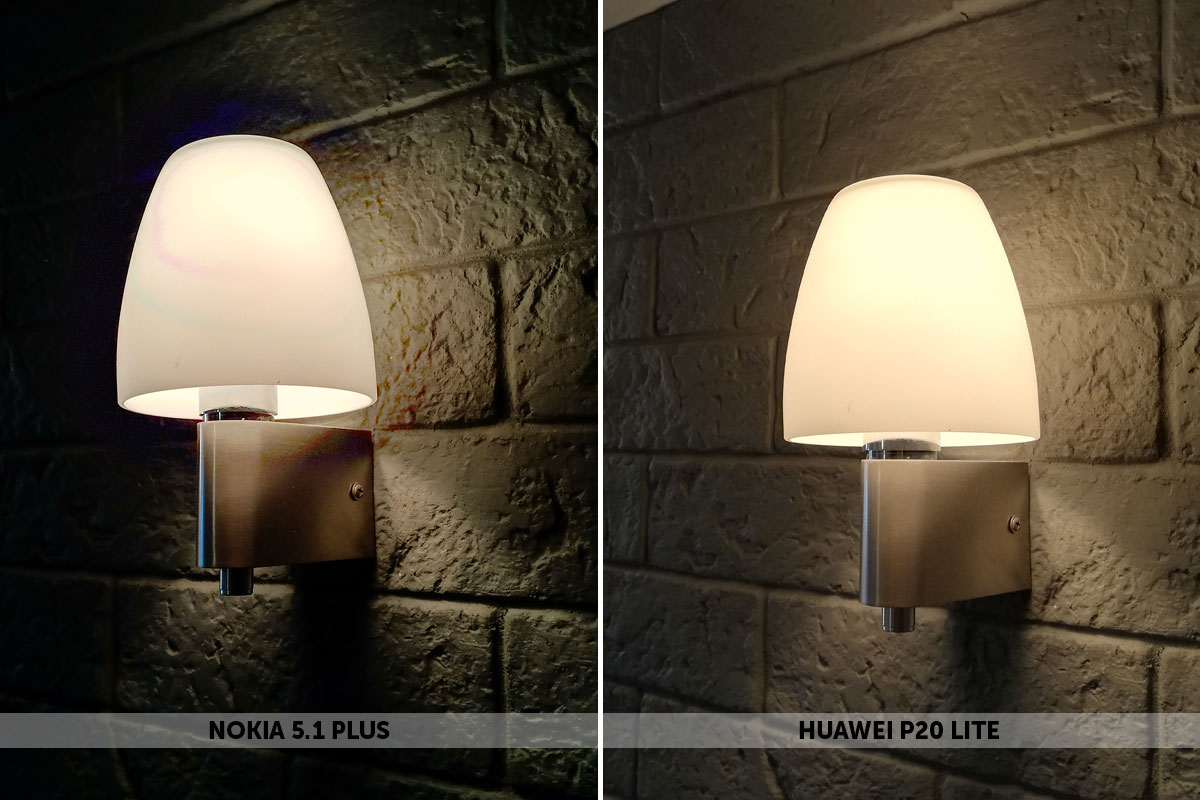 Nokai 5.1 Plus и Huawei P20 Lite в режиме HDR