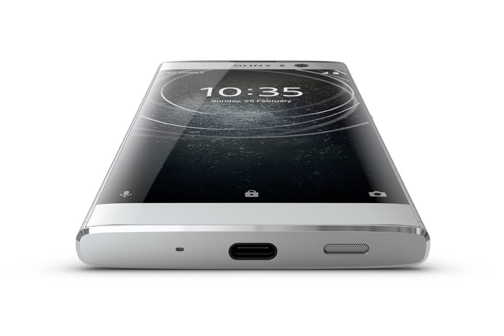 Sony Xperia XA2 вид с нижней стороны