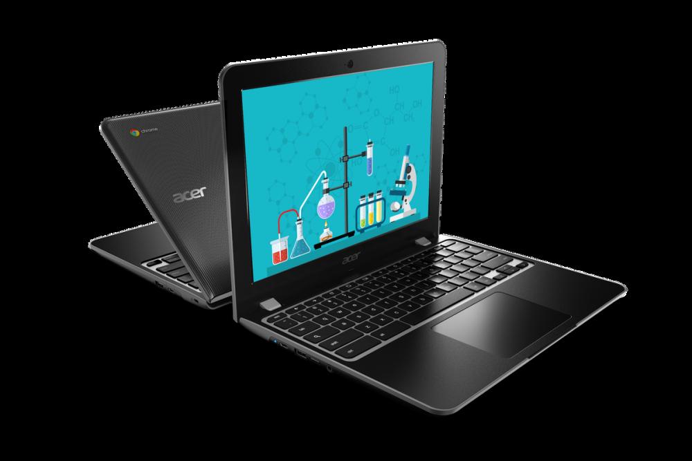 Acer Chromebook 512 в раскрытом виде