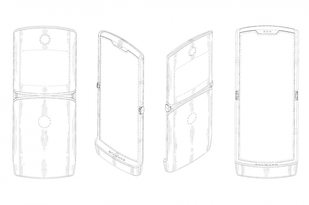 патент Motorola Razr 2019 года