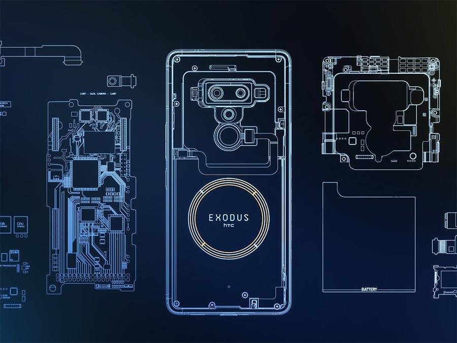 Внутренние компоненты HTC Exodus