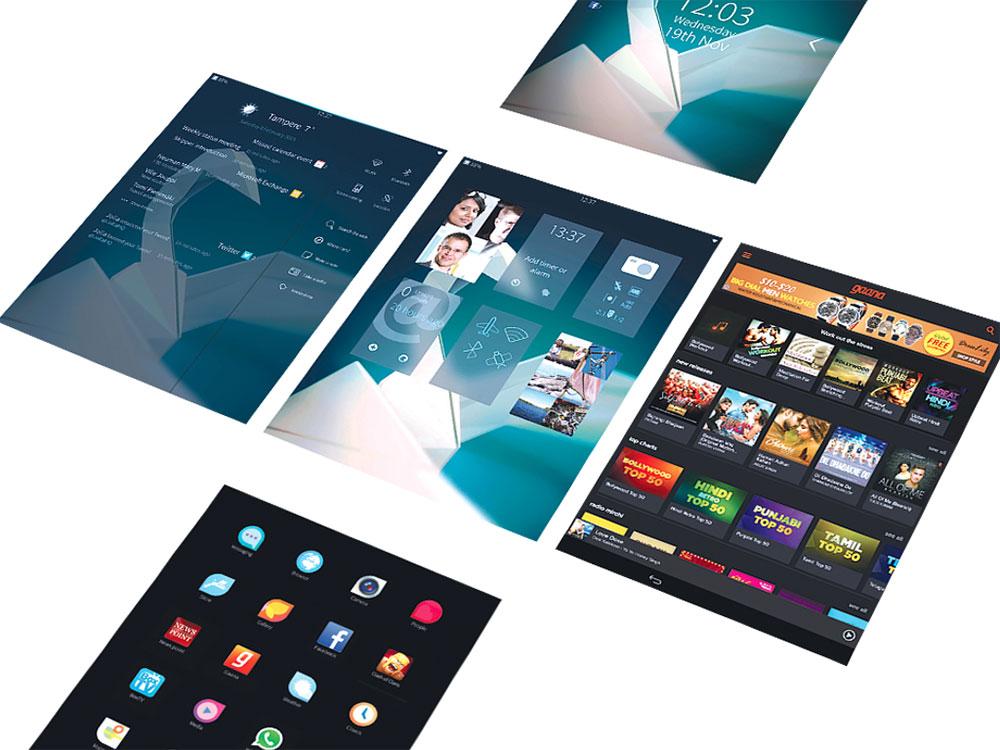 Sailfish OS интерфейс